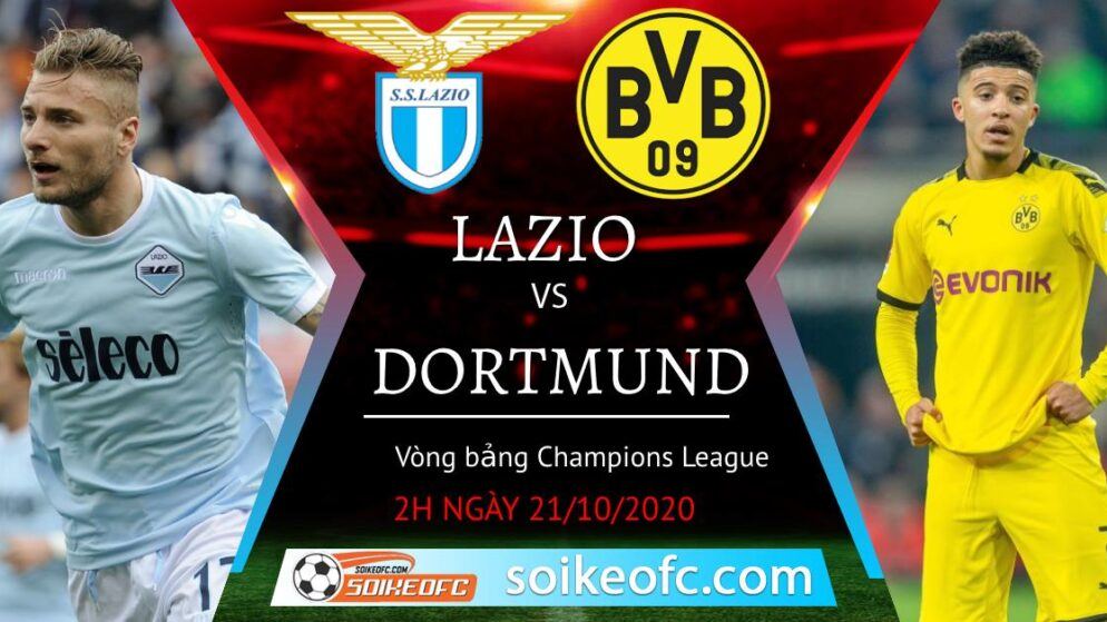 Soi kèo Lazio vs Dortmund, 02h00 ngày 21/10/2020 – Champion League