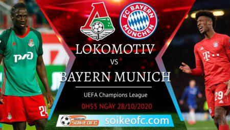 Soi kèo Lokomotiv Moscow vs Bayern Munich, 00h55 ngày 28/10/2020 – Champion League