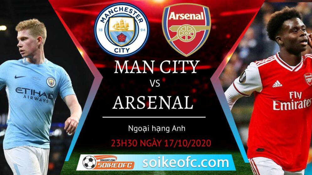 Soi kèo Manchester City vs Arsenal, 23h30 ngày 17/10/2020 – Ngoại hạng Anh