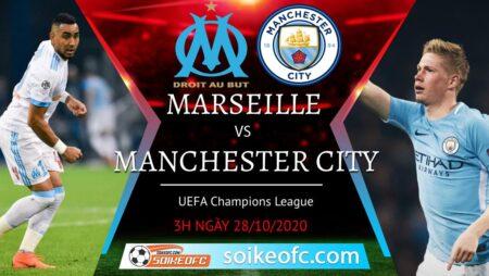 Soi kèo Marseille vs Manchester City, 03h00 ngày 28/10/2020 – Champion League