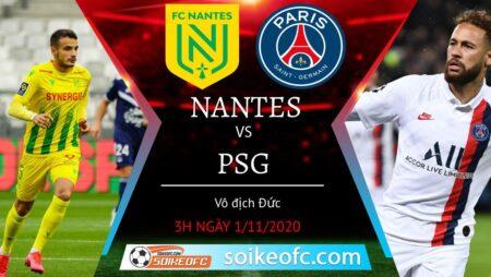 Soi kèo Nantes vs PSG, 03h00 ngày 01/11/2020 – VĐQG Pháp