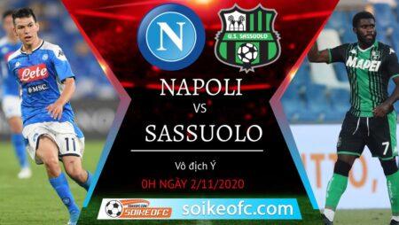 Soi kèo Napoli vs Sassuolo, 00h00 ngày 02/11/2020 – VĐQG Italia
