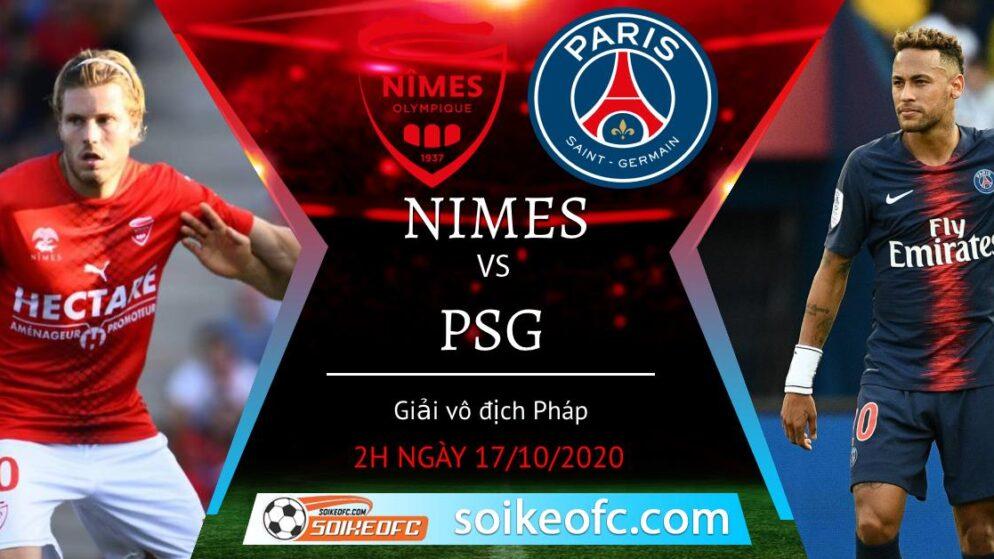 Soi kèo Nimes vs PSG, 02h00 ngày 17/10/2020 – VĐQG Pháp