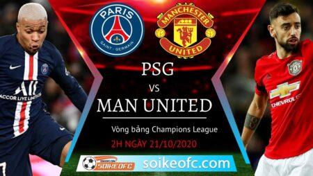 Soi kèo PSG vs Manchester United, 02h00 ngày 21/10/2020 – Champion League