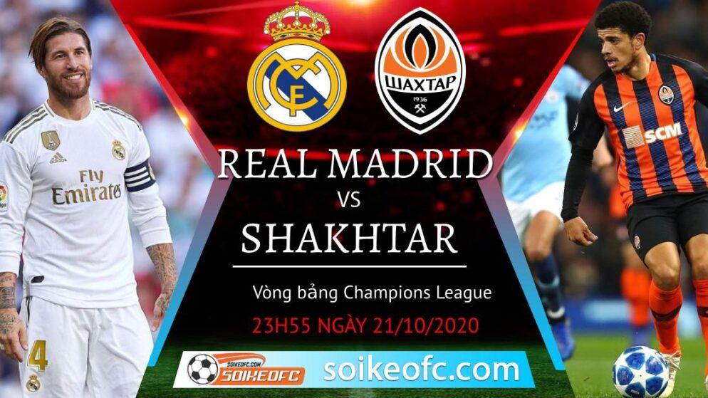 Soi kèo Real Madrid vs Shakhtar Donetsk, 00h00 ngày 22/10/2020 – Champion League