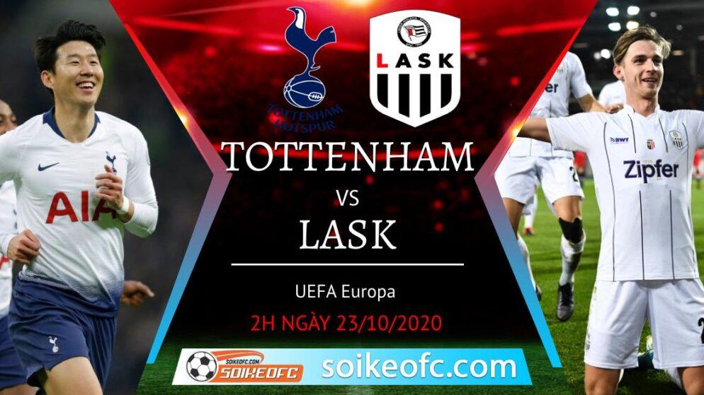 Soi kèo Tottenham vs LASK, 02h00 ngày 23/10/2020 – Europa League