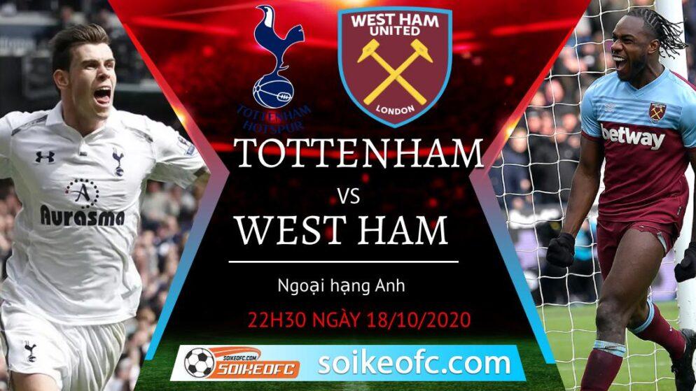 Soi kèo Tottenham vs West Ham, 22h30 ngày 18/10/2020 – Ngoại Hạng Anh