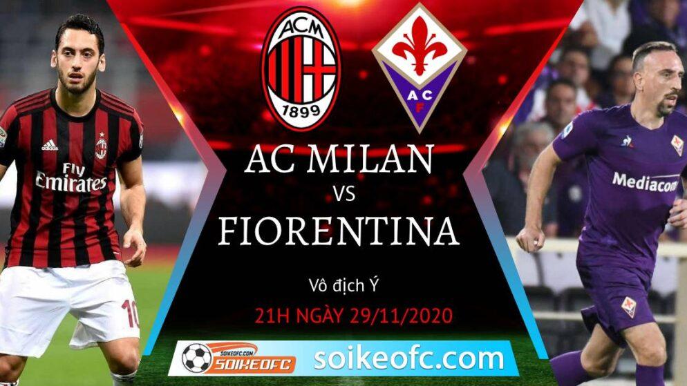 Soi kèo AC Milan vs Fiorentina, 21h00 ngày 29/11/2020 – VĐQG Italia