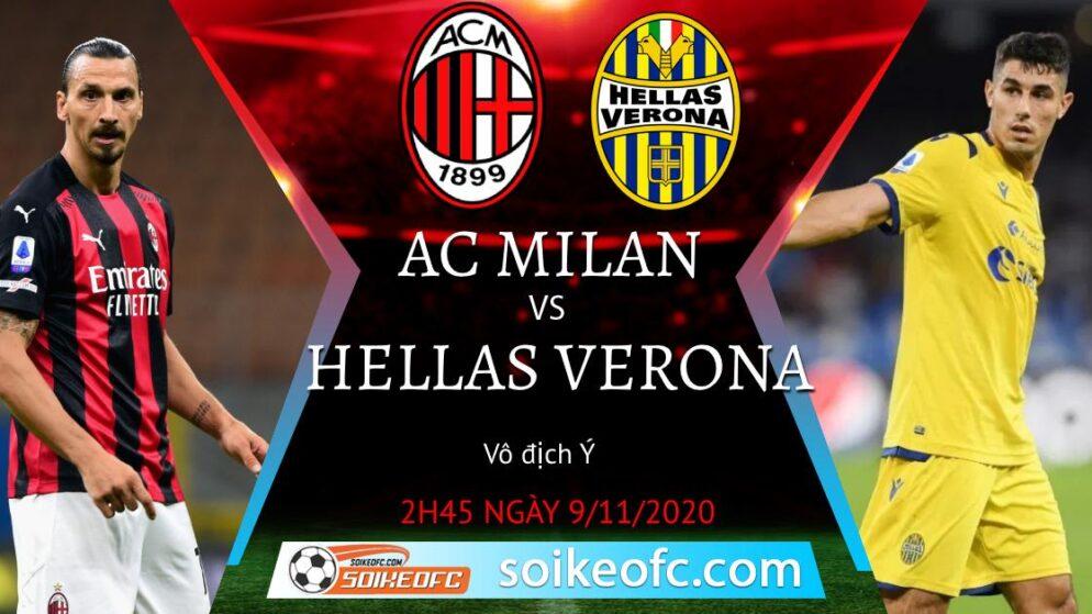 Soi kèo AC Milan vs Verona, 02h45 ngày 09/11/2020 – VĐQG Italia