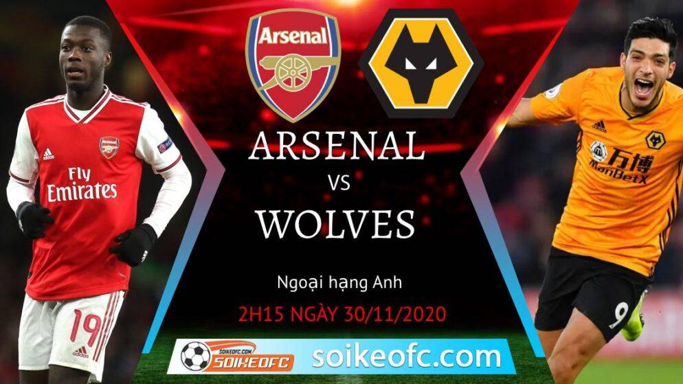 Soi kèo Arsenal vs Wolves, 2h15 ngày 30/11/2020 – Ngoại Hạng Anh