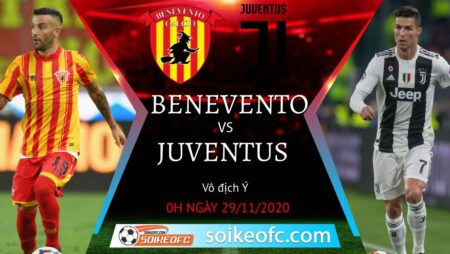 Soi kèo Benevento vs Juventus, 0h00 ngày 29/11/2020 – VĐQG Italia
