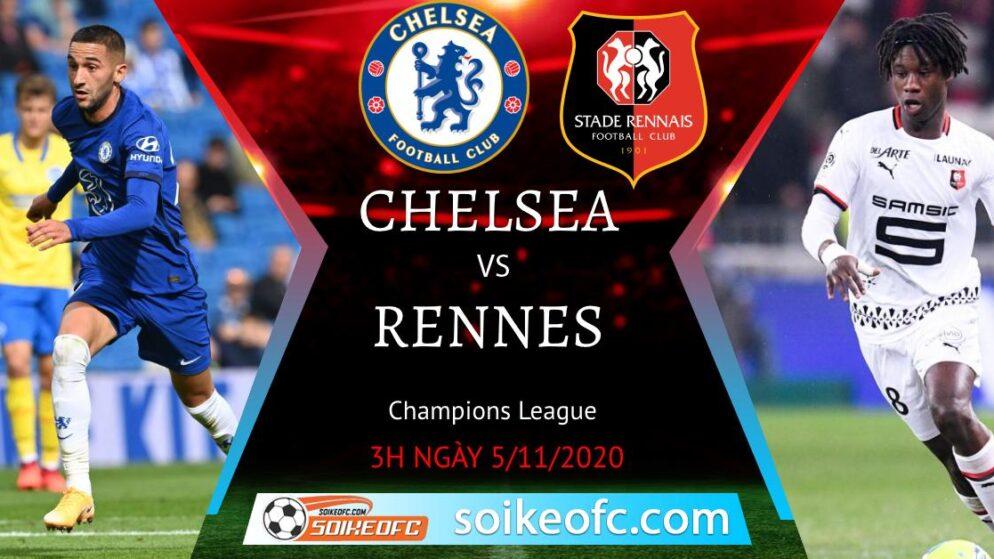 Soi kèo Chelsea vs Rennes, 3h00 ngày 05/11/2020 – Champion League