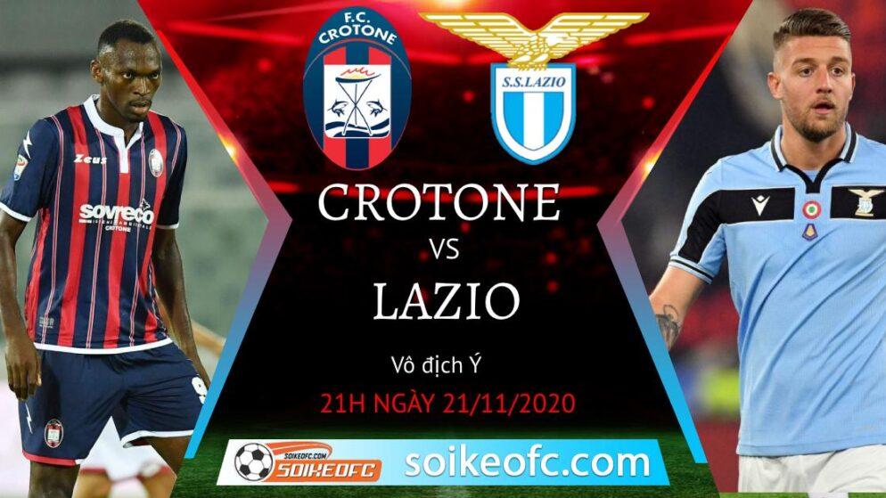 Soi kèo Crotone vs Lazio, 18h30 ngày 21/11/2020 – VĐQG Italia