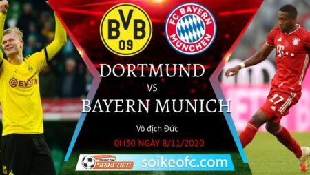 Soi kèo Dortmund vs Bayern Munich, 00h30 ngày 08/11/2020 – VĐQG Đức