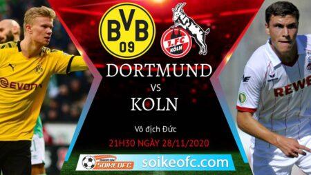 Soi kèo Dortmund vs FC Koln, 21h30 ngày 28/11/2020 – VĐQG Đức