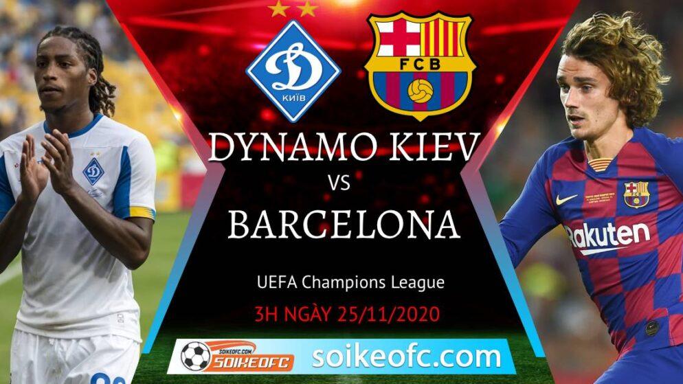 Soi kèo Dynamo Kyiv vs Barcelona, 03h00 ngày 25/11/2020 – Champion League
