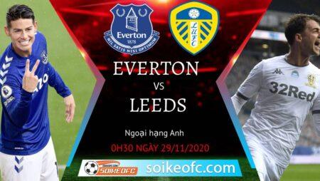Soi kèo Everton vs Leeds United, 0h30 ngày 29/11/2020 – Ngoại Hạng Anh