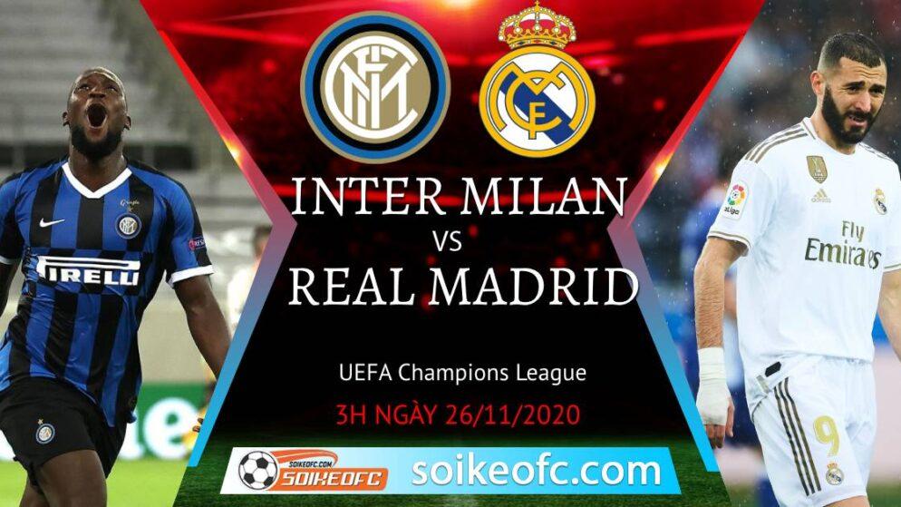 Soi kèo Inter Milan vs Real Madrid, 03h00 ngày 26/11/2020 – Champion League