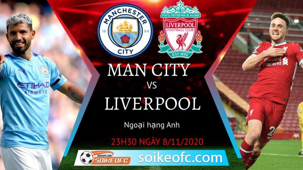 Soi kèo Manchester City vs Liverpool, 23h30 ngày 08/11/2020 – Ngoại Hạng Anh