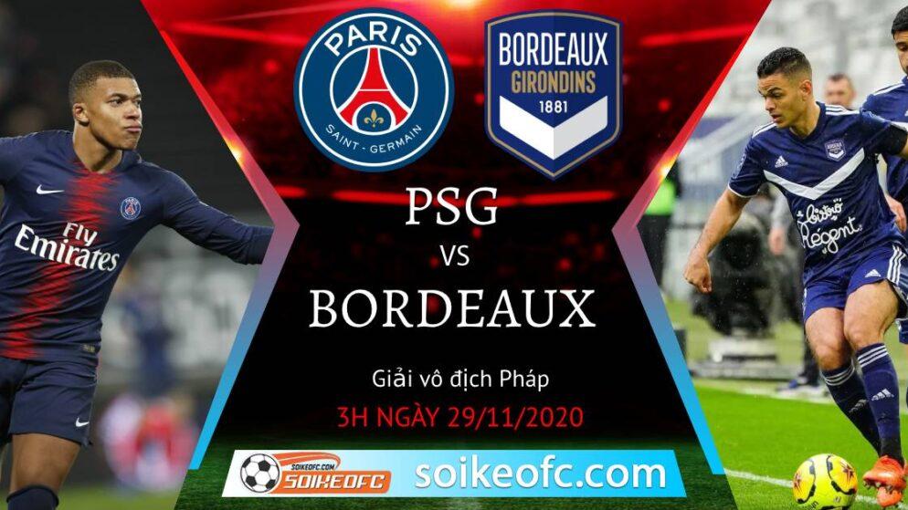 Soi kèo PSG vs Bordeaux, 03h00 ngày 29/11/2020 – VĐQG Pháp