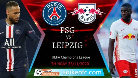 Soi kèo PSG vs RB Leipzig, 03h00 ngày 25/11/2020 – Champion League