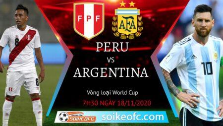 Soi kèo Peru vs Argentina, 7h30 ngày 18/11/2020 – Vòng loại World Cup 2022