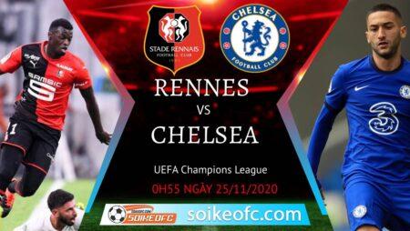 Soi kèo Stade Rennais vs Chelsea, 00h55 ngày 25/11/2020 – Champion League