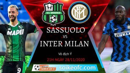 Soi kèo Sassuolo vs Inter Milan, 21h00 ngày 28/11/2020 – VĐQG Italia