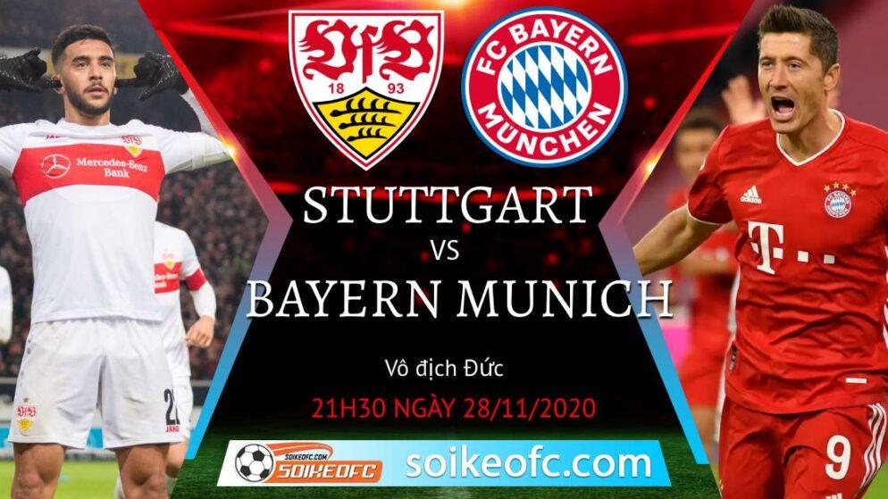 Soi kèo Stuttgart vs Bayern Munich, 21h30 ngày 28/11/2020 – VĐQG Đức