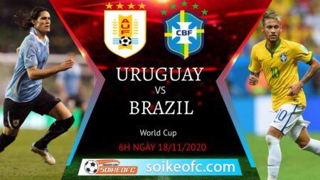 Soi kèo Uruguay vs Brazil, 6h00 ngày 18/11/2020 – Vòng loại World Cup 2022