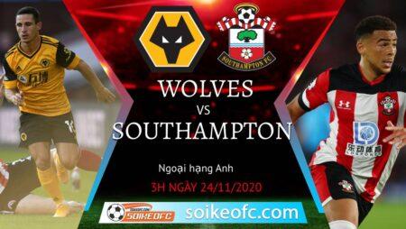 Soi kèo Wolves vs Southampton, 3h00 ngày 24/11/2020 – Ngoại Hạng Anh