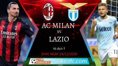 Soi kèo AC Milan vs Lazio, 2h45 ngày 24/12/2020 – VĐQG Italia