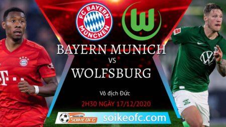 Soi kèo Bayern Munich vs Wolfsburg, 2h30 ngày 17/12/2020 – VĐQG Đức