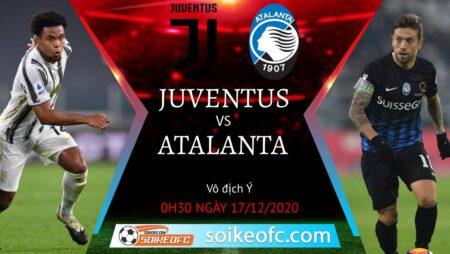 Soi kèo Juventus vs Atalanta, 0h30 ngày 17/12/2020 – VĐQG Italia