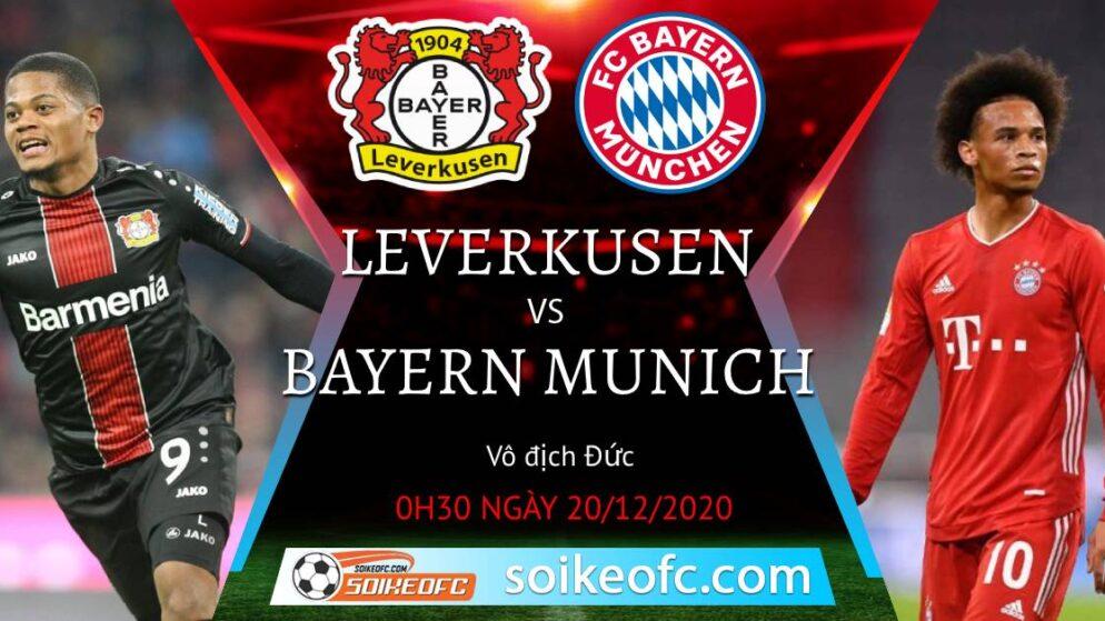 Soi kèo Bayer Leverkusen vs Bayern Munich, 0h30 ngày 20/12/2020 – VĐQG Đức