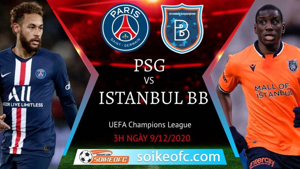 Soi kèo PSG vs Istanbul BB, 03h00 ngày 09/12/2020 – Champion League