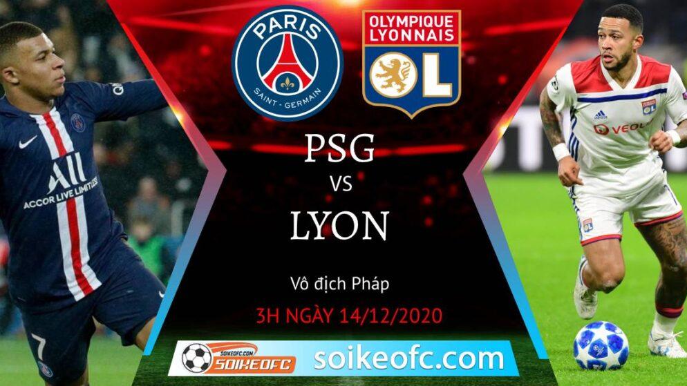 Soi kèo PSG vs Lyon, 3h00 ngày 14/12/2020 – VĐQG Pháp