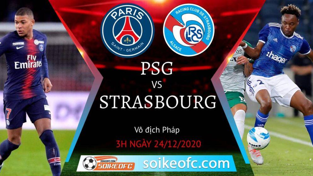 Soi kèo PSG vs Strasbourg, 3h00 ngày 24/12/2020 – VĐQG Pháp