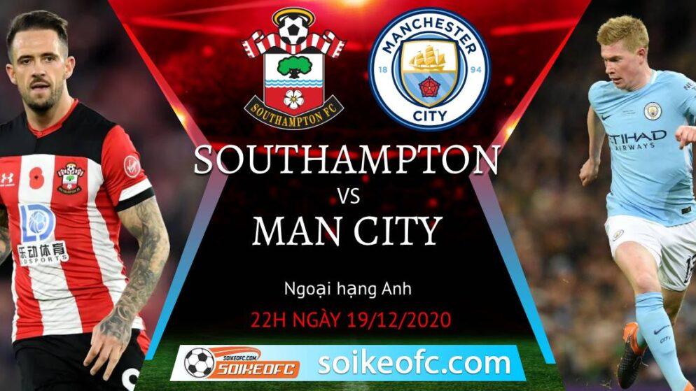 Soi kèo Southampton vs Manchester City, 22h00 ngày 19/12/2020 – Ngoại Hạng Anh