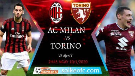Soi kèo AC Milan vs Torino, 2h45 ngày 10/01/2021 – VĐQG Italia