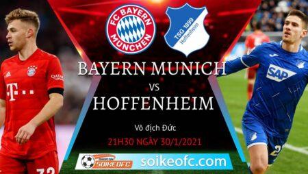Soi kèo Bayern Munich vs Hoffenheim, 21h30 ngày 30/01/2021 – VĐQG Đức