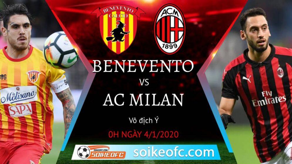 Soi kèo Benevento vs AC Milan, 0h00 ngày 04/01/2021 – VĐQG Italia