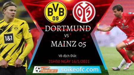 Soi kèo Dortmund vs Mainz 05, 21h30 ngày 16/01/2021 – VĐQG Đức