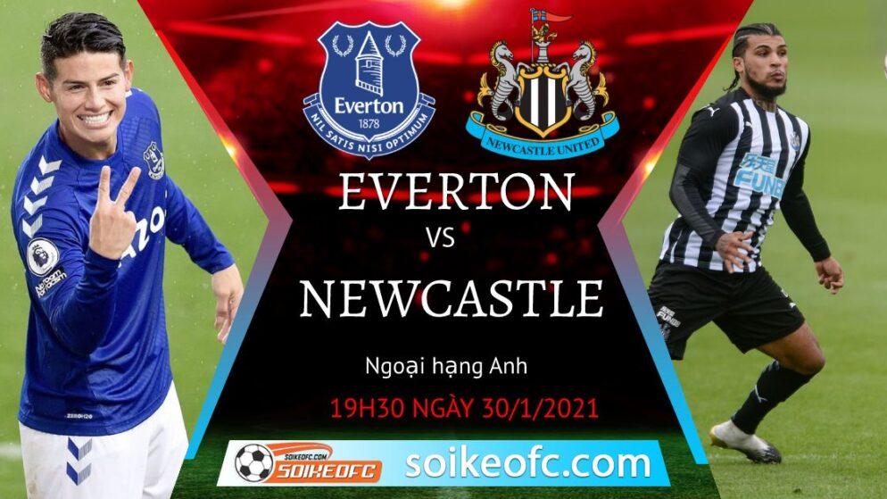 Soi kèo Everton vs Newcastle United, 19h30 ngày 30/01/2021 – Ngoại Hạng Anh