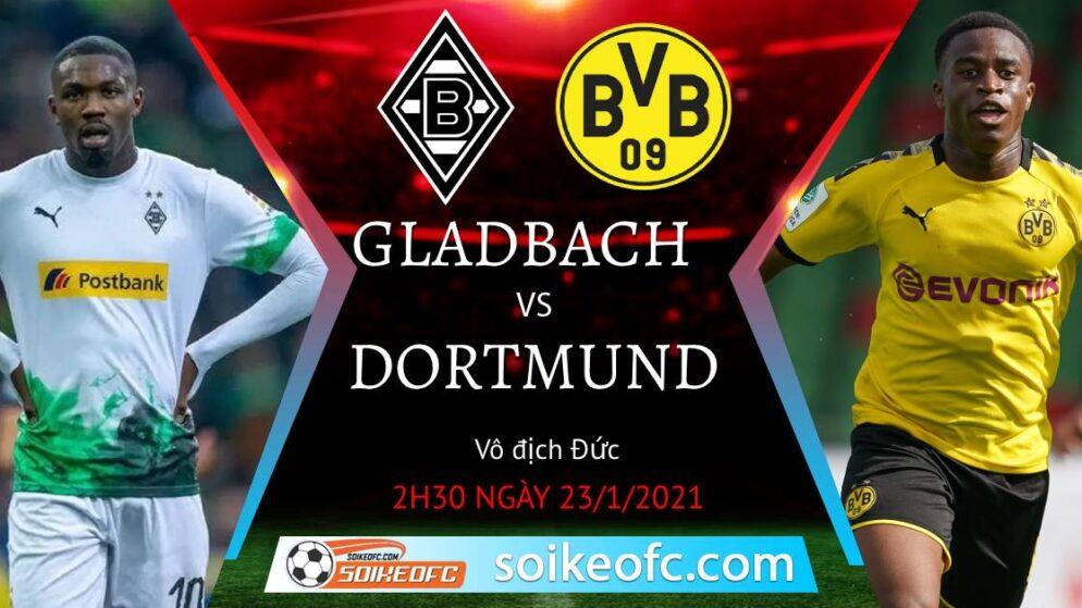 Soi kèo M'Gladbach vs Dortmund, 2h30 ngày 23/01/2021 – VĐQG Đức