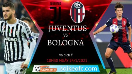 Soi kèo Juventus vs Bologna, 18h30 ngày 24/01/2021 – VĐQG Italia