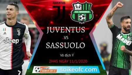 Soi kèo Juventus vs Sassuolo, 2h45 ngày 11/01/2021 – VĐQG Italia