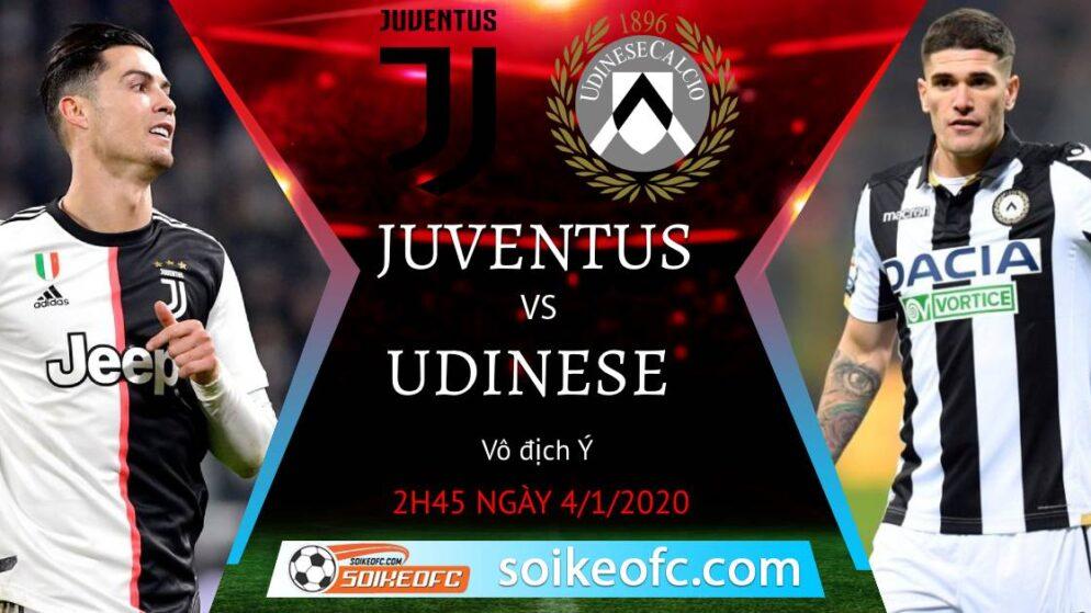 Soi kèo Juventus vs Udinese, 2h45 ngày 04/01/2021 – VĐQG Italia