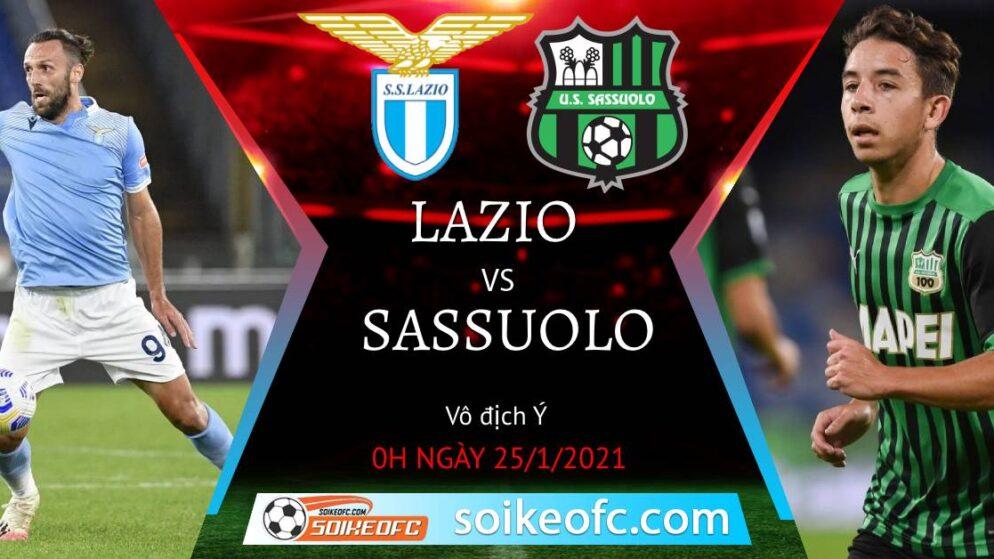 Soi kèo Lazio vs Sassuolo Calcio, 0h00 ngày 25/01/2021 – Giải VĐQG Italia
