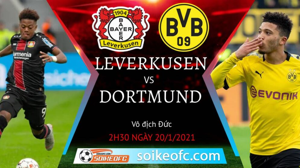 Soi kèo Bayer Leverkusen vs Dortmund, 2h30 ngày 20/01/2021 – VĐQG Đức